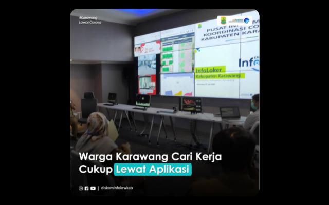 Warga Karawang Cari Kerja Cukup Lewat Aplikasi Situs Resmi Pemerintah Daerah Kabupaten Karawang
